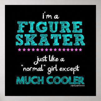 Golly filles - je suis un patineur artistique poster
