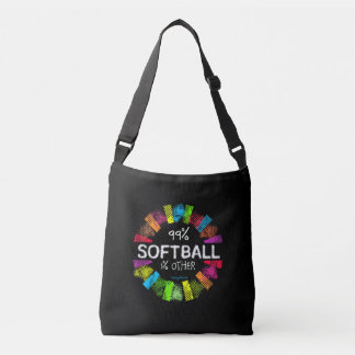 Golly Girls: 99 Percent Softball 1 Percent Other Crossbody Bag