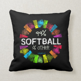 Golly Girls: 99 Percent Softball 1 Percent Other Throw Pillow