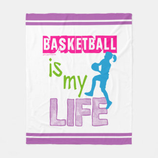 Golly Girls - Basketball is My Life Fleece Blanket