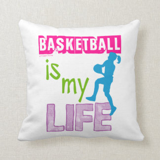 Golly Girls - Basketball is My Life Throw Pillow