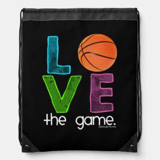 Golly Girls: Basketball - Love the Game Drawstring Backpacks