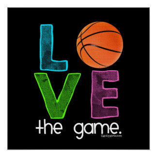 Golly Girls: Basketball - Love the Game Perfect Poster