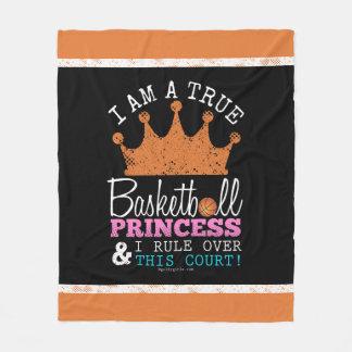 Golly Girls: Basketball Princess Rule This Court Fleece Blanket