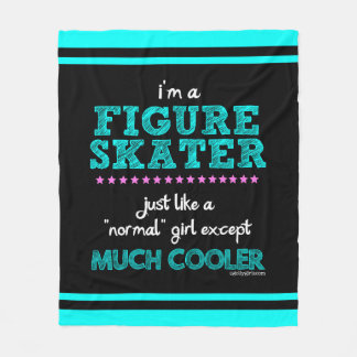 Golly Girls - I'm A Figure Skater Fleece Blanket