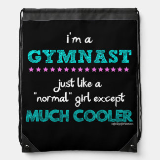Golly Girls - I'm a Gymnast Drawstring Bag