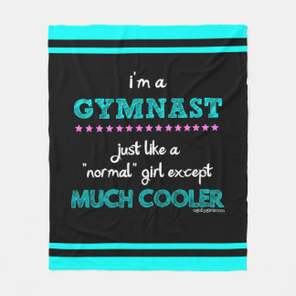 Golly Girls - I'm a Gymnast Fleece Blanket