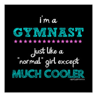 Golly Girls - I'm a Gymnast Poster