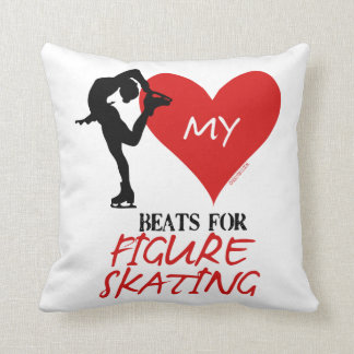 Golly Girls - My Heart Beats for Figure Skating Throw Pillow