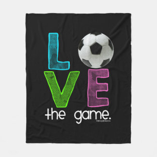 Golly Girls: Soccer - Love the Game Fleece Blanket