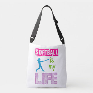 Golly Girls - Softball is My Life Crossbody Bag