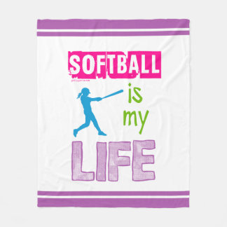 Golly Girls - Softball is My Life Fleece Blanket