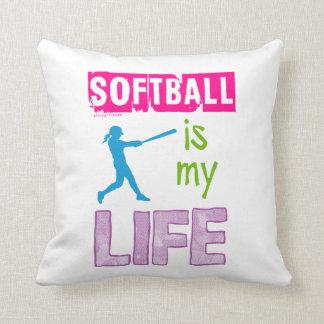 Golly Girls - Softball is My Life Throw Pillow