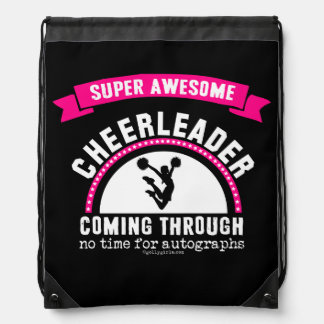 Golly Girls: Super Awesome Cheerleader Drawstring Bag