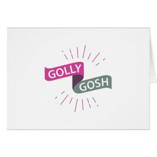 Golly Gosh Funny British Retro Card