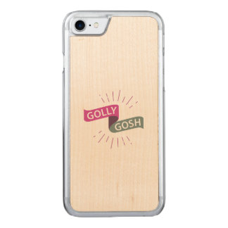 Golly Gosh Funny British Retro Carved iPhone 8/7 Case