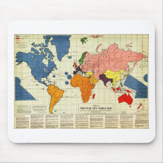 """Gomberg's infamous """"New World Order"""" map (1942) Mouse Pad"""