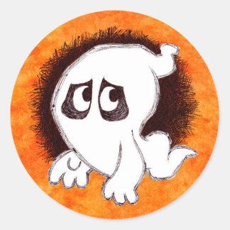 Gomer l'autocollant de fantôme sticker rond