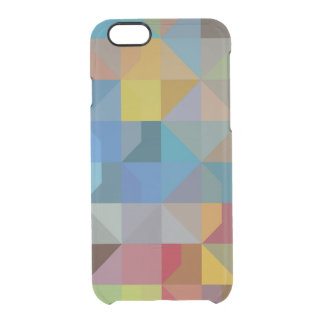 Gometric Art Multicolor Triangles and Diamonds Clear iPhone 6/6S Case
