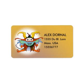 GOMMO ALIEN CARTOON  Adress Labels