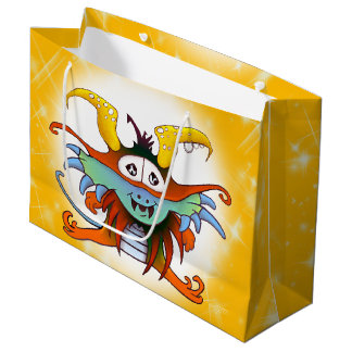 GOMMO ALIEN CARTOON GIFT BAG LARGE GLOSSY