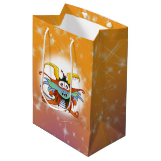 GOMMO ALIEN CARTOON GIFT BAG MEDIUM GLOSSY