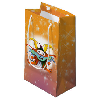 GOMMO ALIEN CARTOON GIFT BAG SMALL GLOSSY