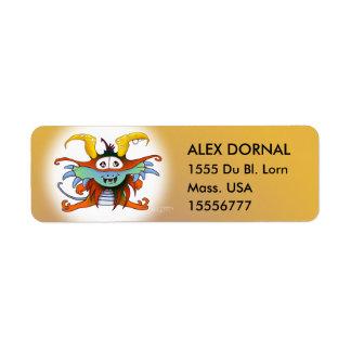 GOMMO ALIEN CARTOON  Return Labels