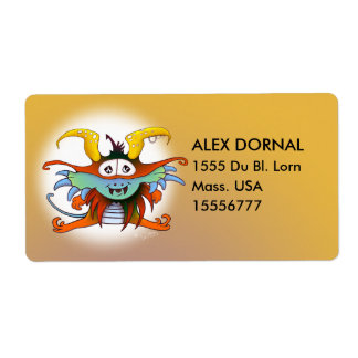 GOMMO ALIEN CARTOON  Shipping Labels