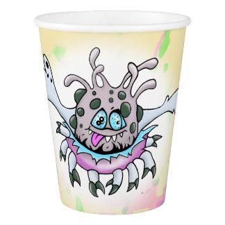 GOMMO ALIEN  CUTE CARTOON  Paper Cup, 9 oz Paper Cup