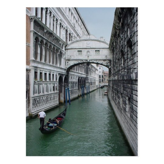 Gondalier at Bridge of Sighs Postcard