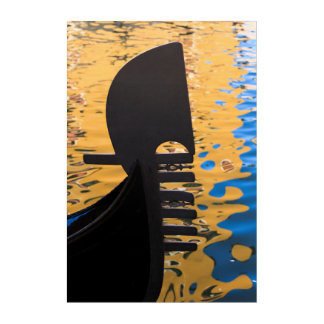 Gondola and water ripples, Italy Acrylic Print