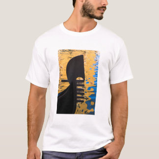 Gondola and water ripples, Italy T-Shirt