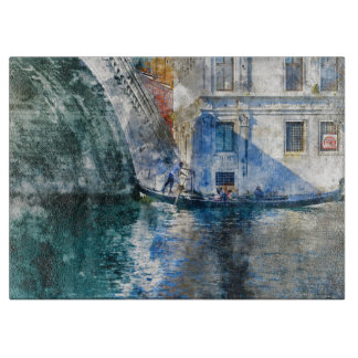 Gondola in the Grand Canal of Venice Italy Boards