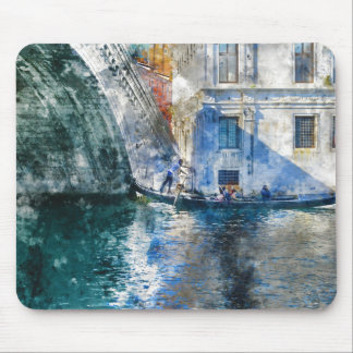 Gondola in the Grand Canal of Venice Italy Mouse Pad