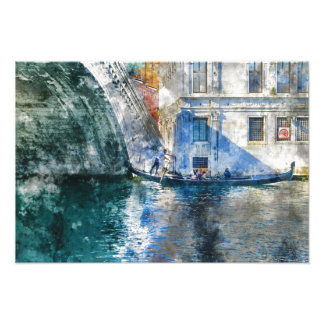 Gondola in the Grand Canal of Venice Italy Photo Print