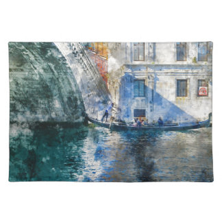 Gondola in the Grand Canal of Venice Italy Placemat