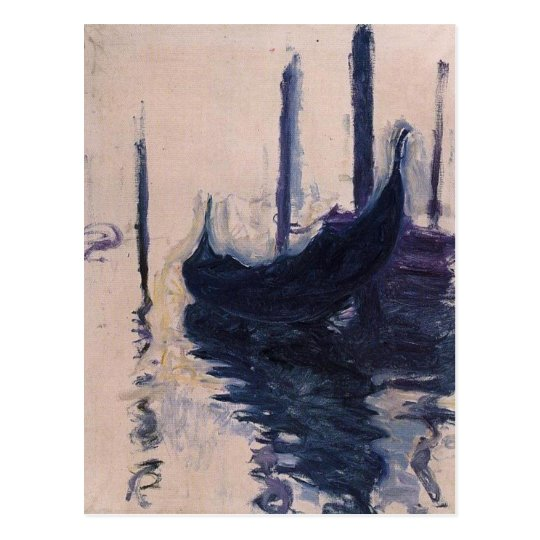 Gondola in Venice by Claude Monet Postcard