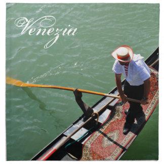Gondola in Venice, Italy Napkin