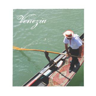 Gondola in Venice, Italy Notepad