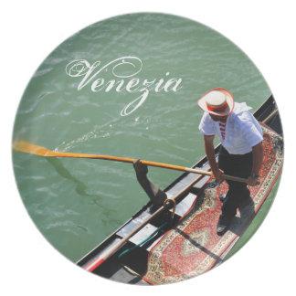 Gondola in Venice, Italy Plate