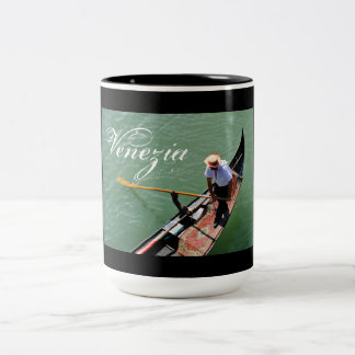 Gondola in Venice, Italy Two-Tone Coffee Mug