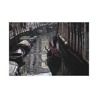 Gondola on a Calle of Venice Canvas Print