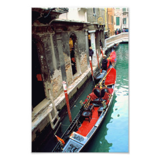 Gondola on a Small Canal Photo Art