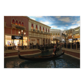 Gondola Ride at The Venetian Photo Print