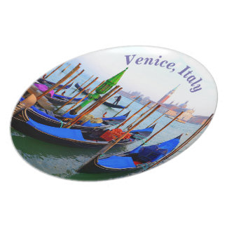 Gondola Station in Venice, Italy Plate