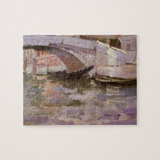 Gondolas by Sargent, Vintage Victorian Fine Art Jigsaw Puzzle