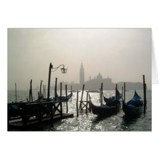 gondolas early morning card