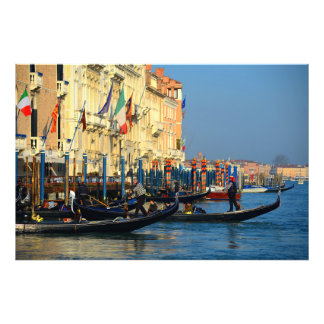 Gondolas From Venice, Italy Photo Print