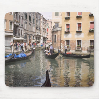 Gondolas in a canal, Venice, Italy Mouse Pad